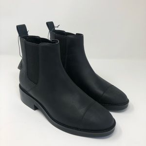 Cole Haan Chelsea Black Leather Booties Waterproof